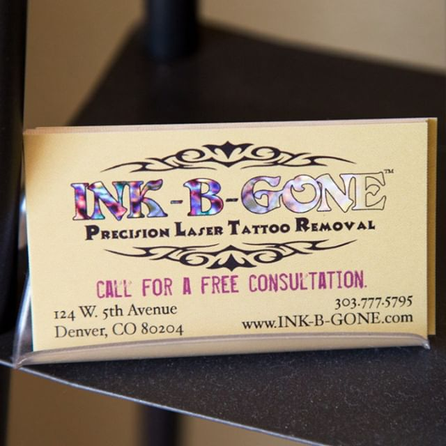 Ink-B-Gone laser tattoo removal business card
